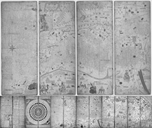 1375, Atles català de Cresques Abraham COMPLETO BN