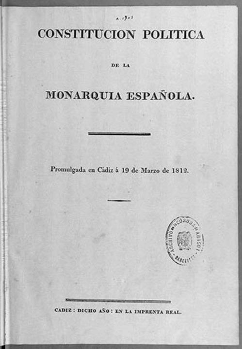 1812 Constitucion de Cádiz BN