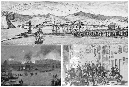 1842 1843 Bombardeos en Barcelona BN