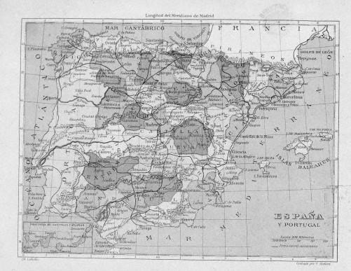 1850 Mapa España por provincias BN