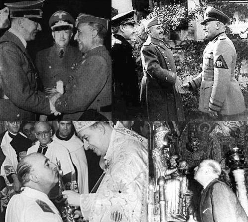 1937 Franco Hitler Mussolini y la Iglesia Católica BN