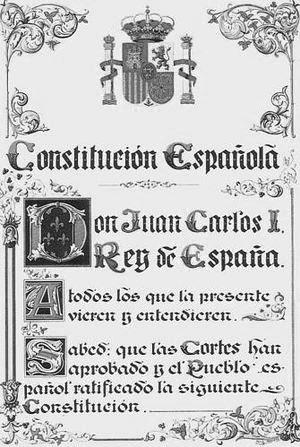 1978 Portada de la Constitucion Española actual BN