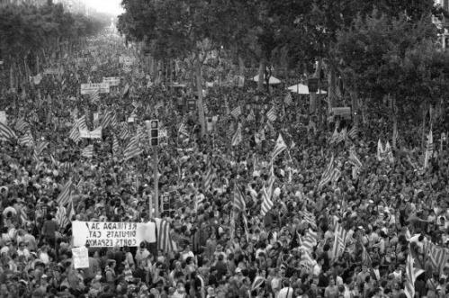 2010 Manifestación contra la Sentencia del Tribunal Constitucional sobre el Estatut de Autonomía de Cataluña BN