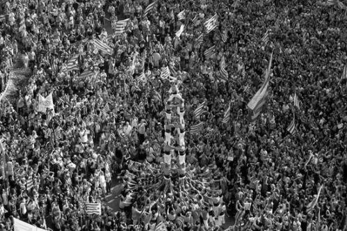 2012 Manifestación con el lema 'Catalunya, nou Estat d'Europa' BN