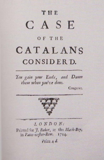 The Case of the Catalans consider'd